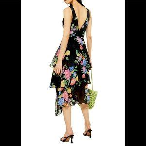 Freida Floral Pinafore Maxi Dress
